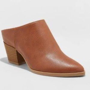 NWT Universal Thread Faux Leather Heeled Mule